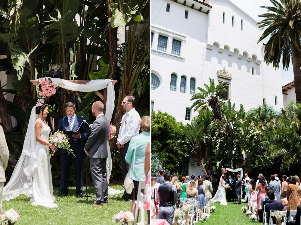 wedding sunken gardens santa barbara courthouse