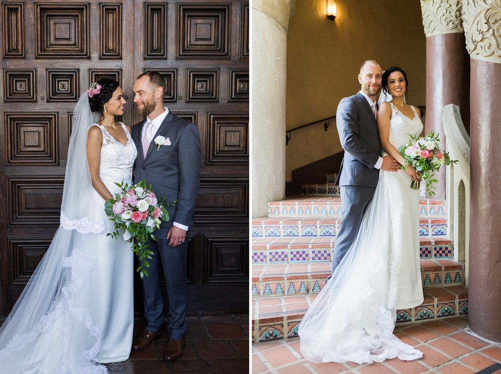 wedding photography santa barbara courthouse