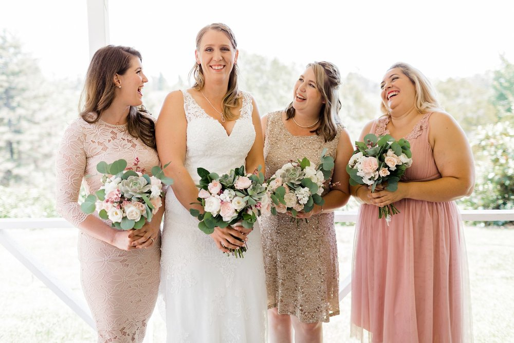 rancho dos pueblos wedding photos bridesmaids