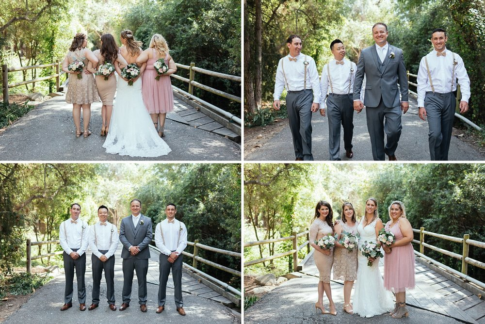 wedding party at rancho dos pueblos
