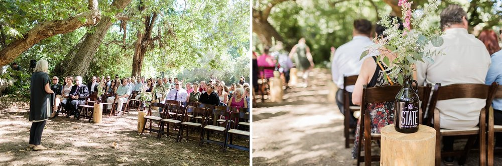 wedding ceremony photography at rancho dos pueblos