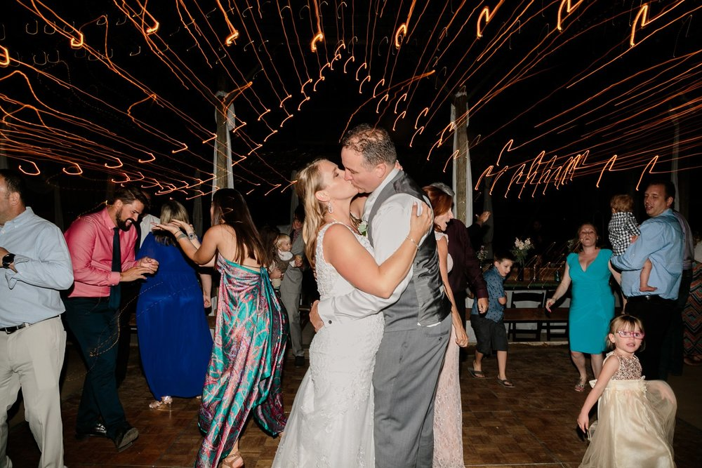 string lights wedding reception photos