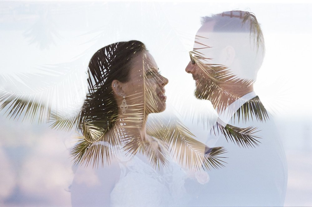 los angeles wedding photographer double exposure