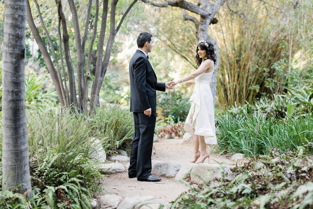 los angeles garden engagement wedding photography