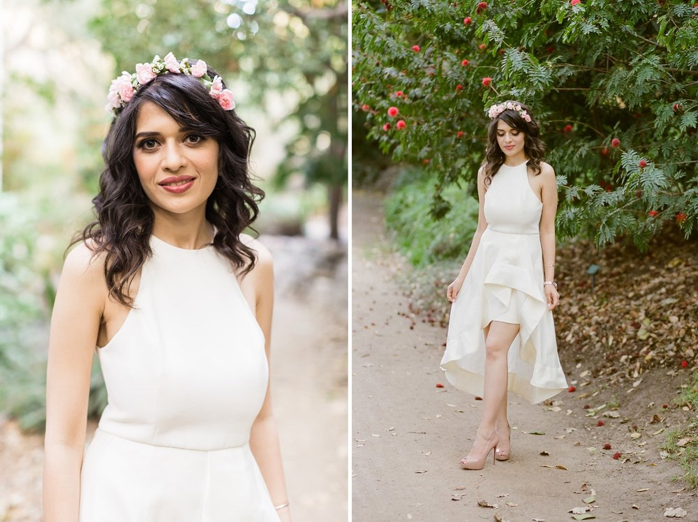 bride flower crown west los angeles wedding photographer