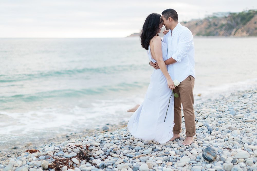 palos verdes beach engagement photos