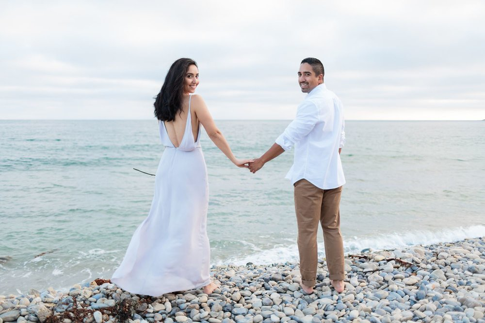 abalone cove beach engagement photos
