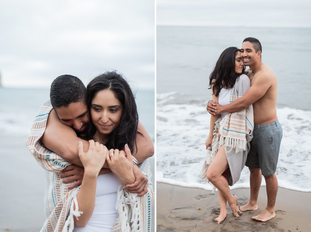 sunset beach engagement photos palos verdes