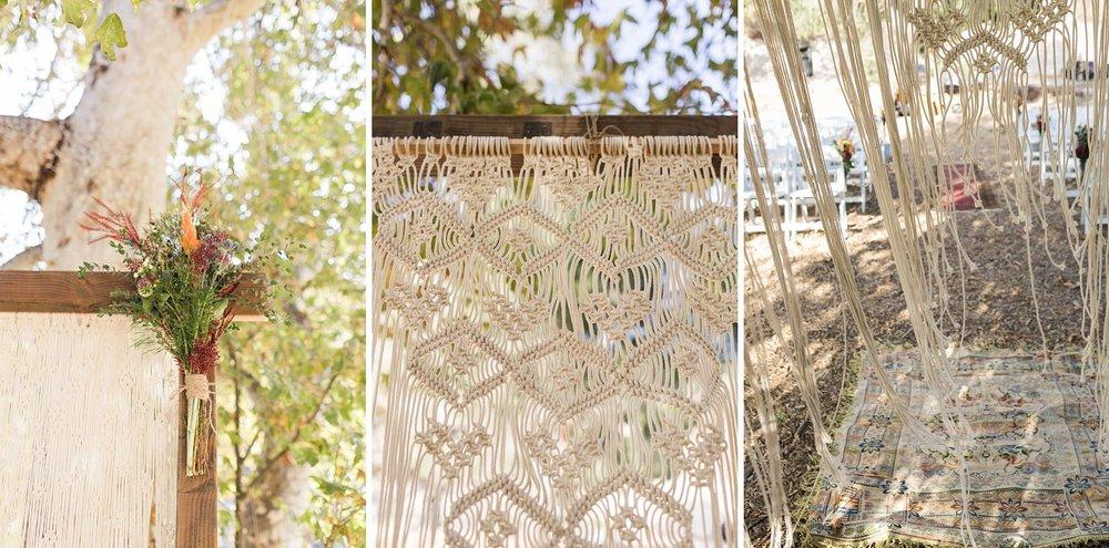 macrame wedding arch