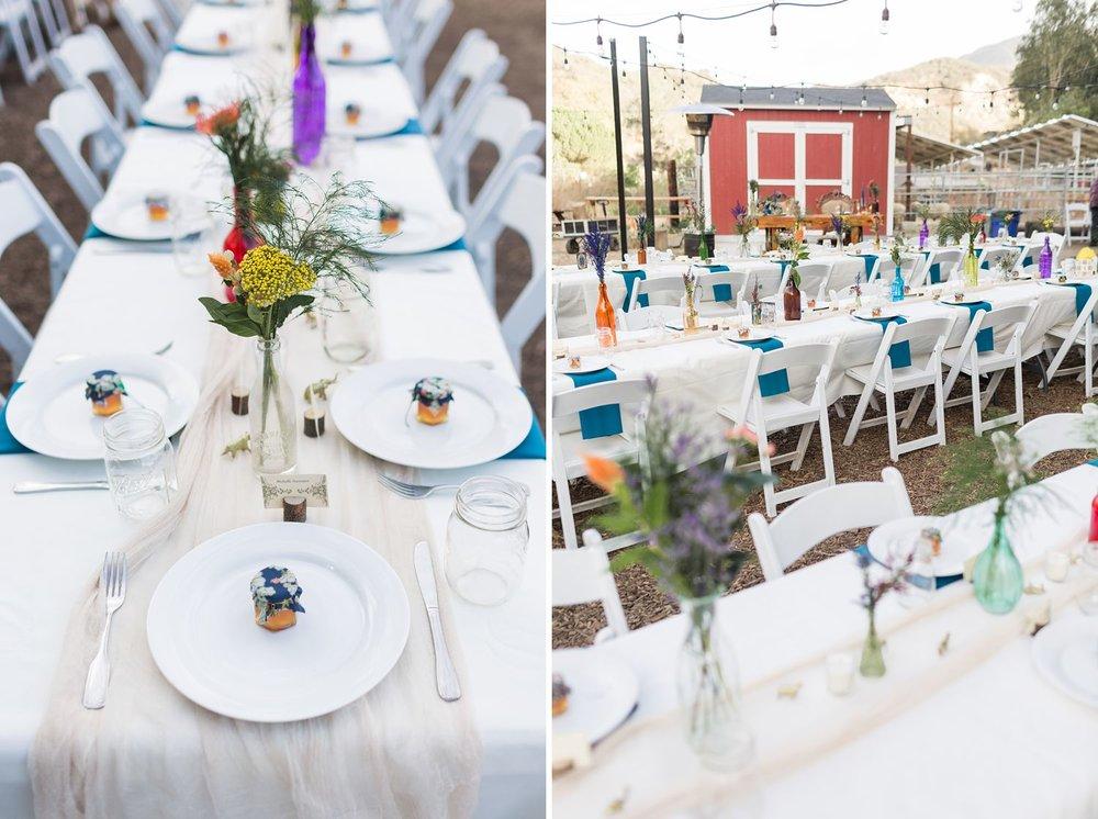 wildflower vintage wedding reception decor