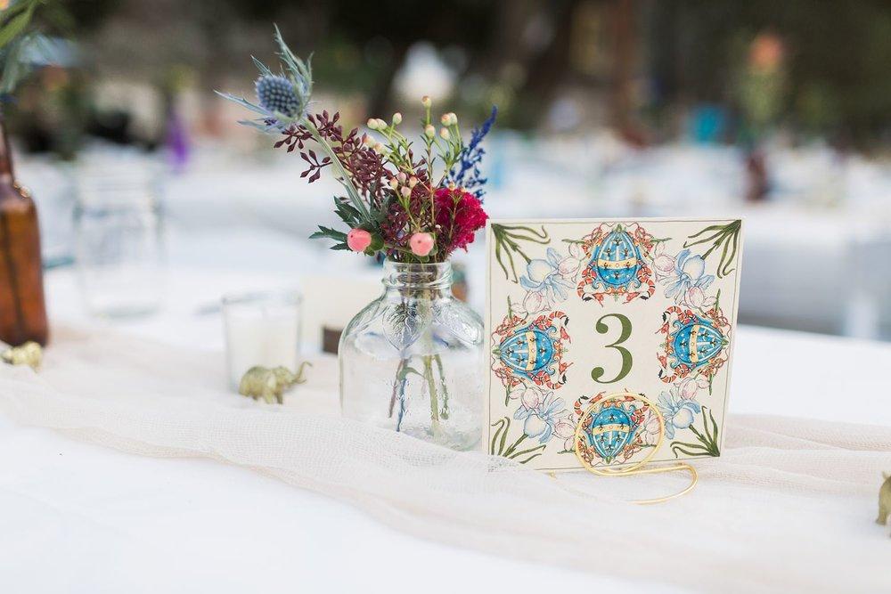 vintage wedding table number cards