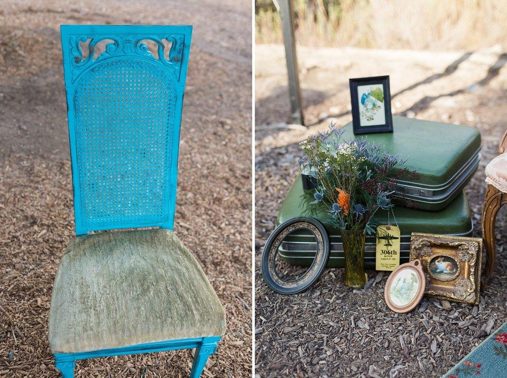 vintage wedding decor at rustic ranch los angeles