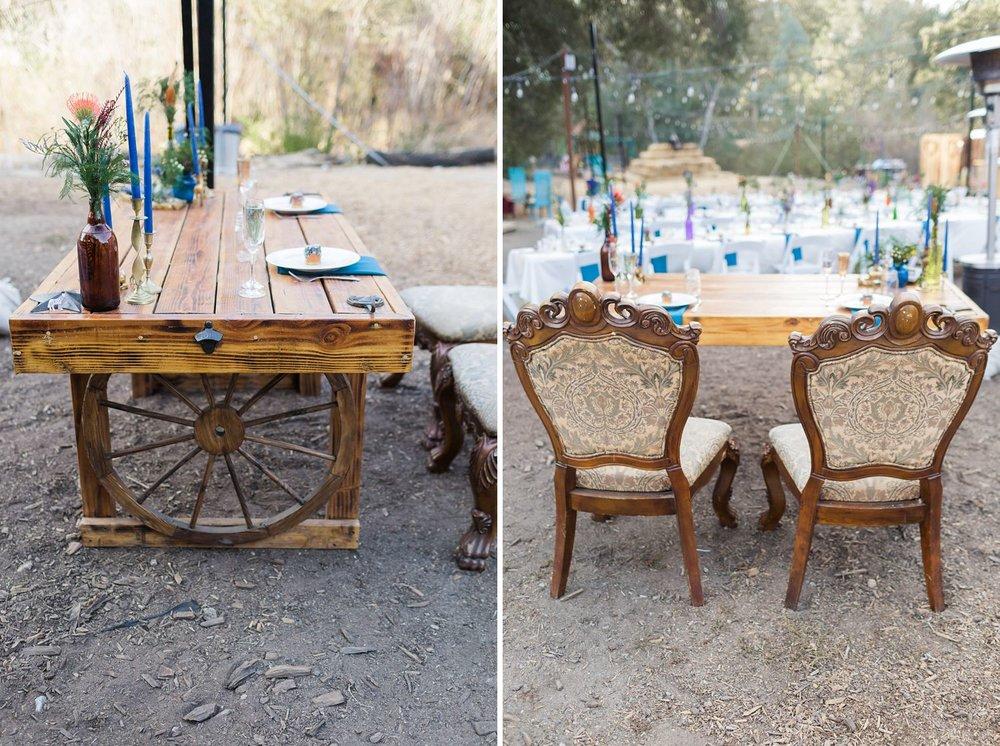 los angeles wedding sweetheart table