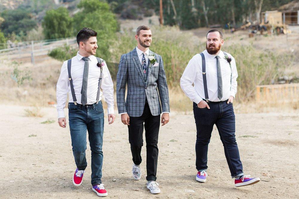 los angeles wedding photographer groomsmen