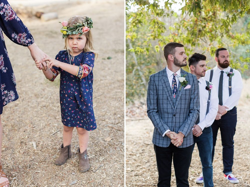 flower girl with flower crown southern california wedding photgrapher