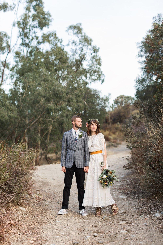 boho wedding style los angeles ca