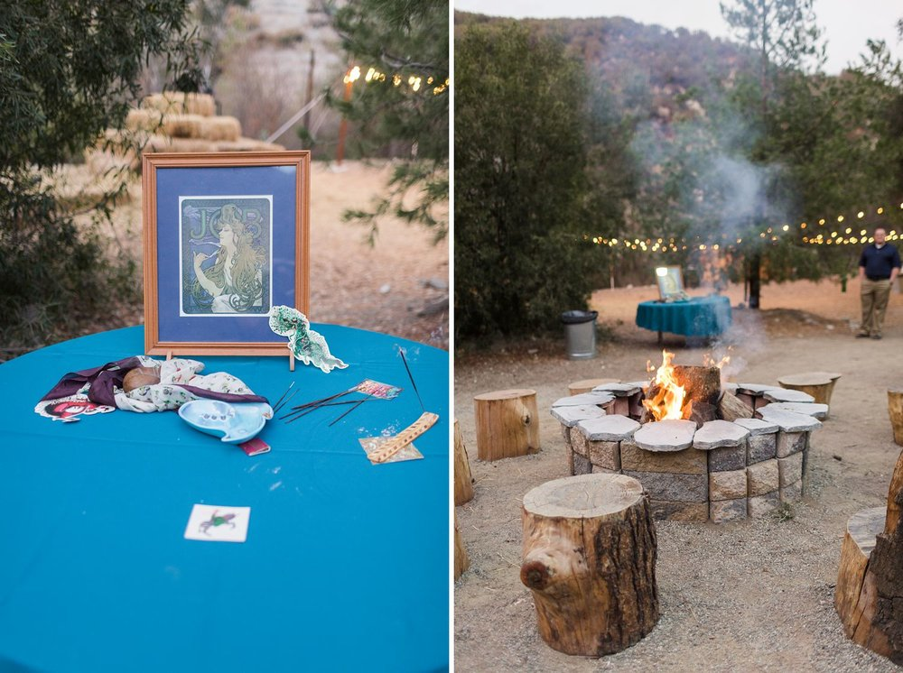 marshmallow roasting pit at los angeles wedding