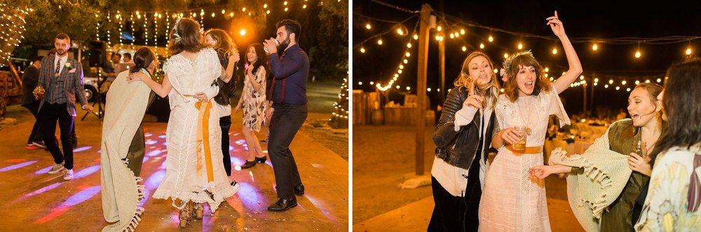 wedding reception dancing at reptacular ranch