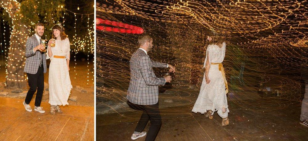 shutter drag wedding reception photos