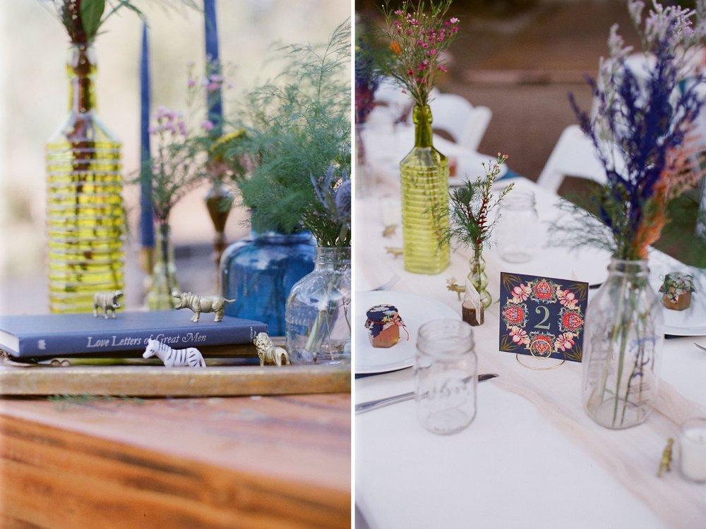 boho wedding reception table decor