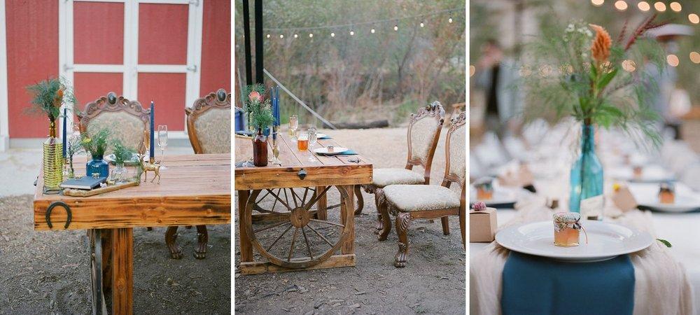 wooden wheel sweetheart table