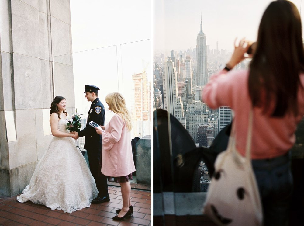 top of the rock wedding photography