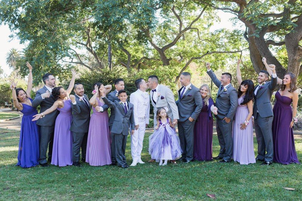 wedding party santa barbara
