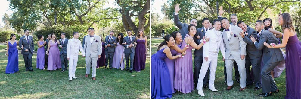 purple bridesmaids dresses santa barbara