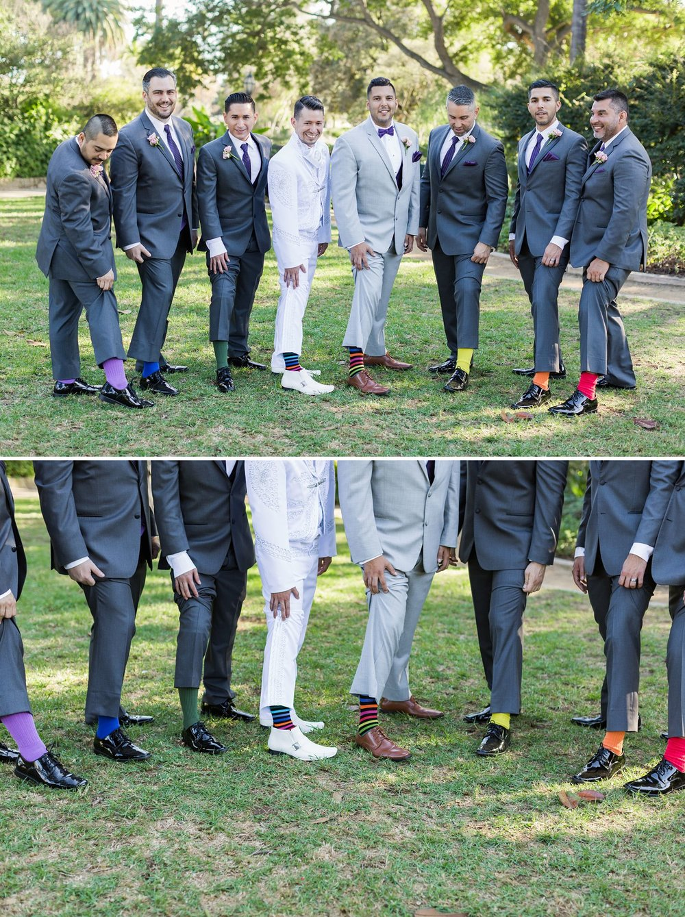 rainbow wedding socks