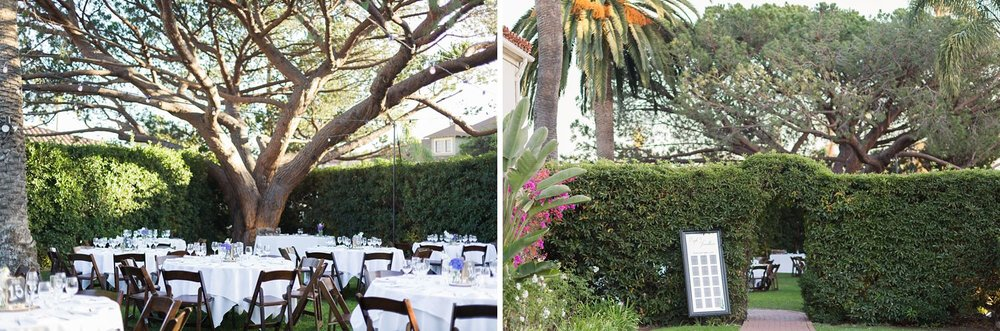 university club of santa barbara outdoor wedding