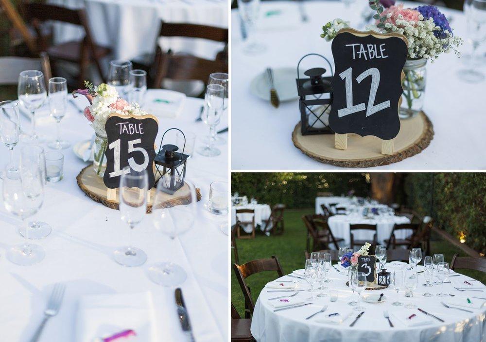 chalkboard centerpieces wedding