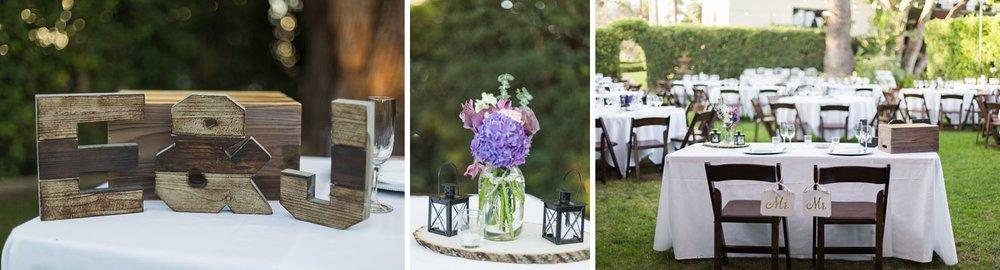 sweetheart table at santa barbara wedding