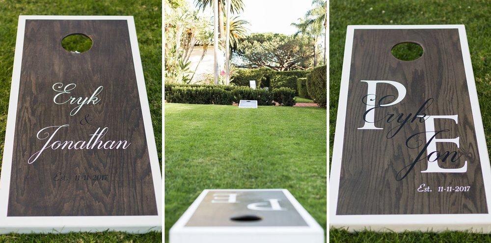 customized cornhole wedding set
