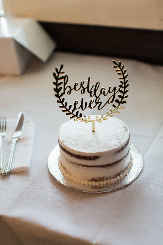 best day ever wedding cake