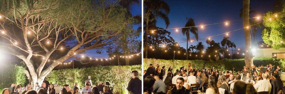 outdoor wedding reception santa barbara