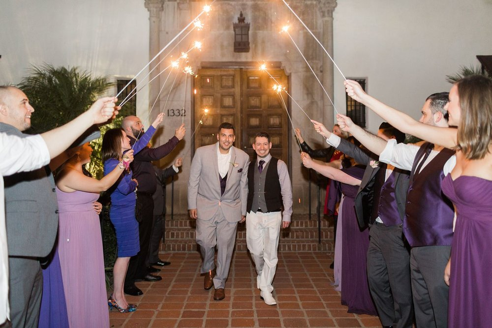 sparkler exit santa barbara riviera mansion wedding
