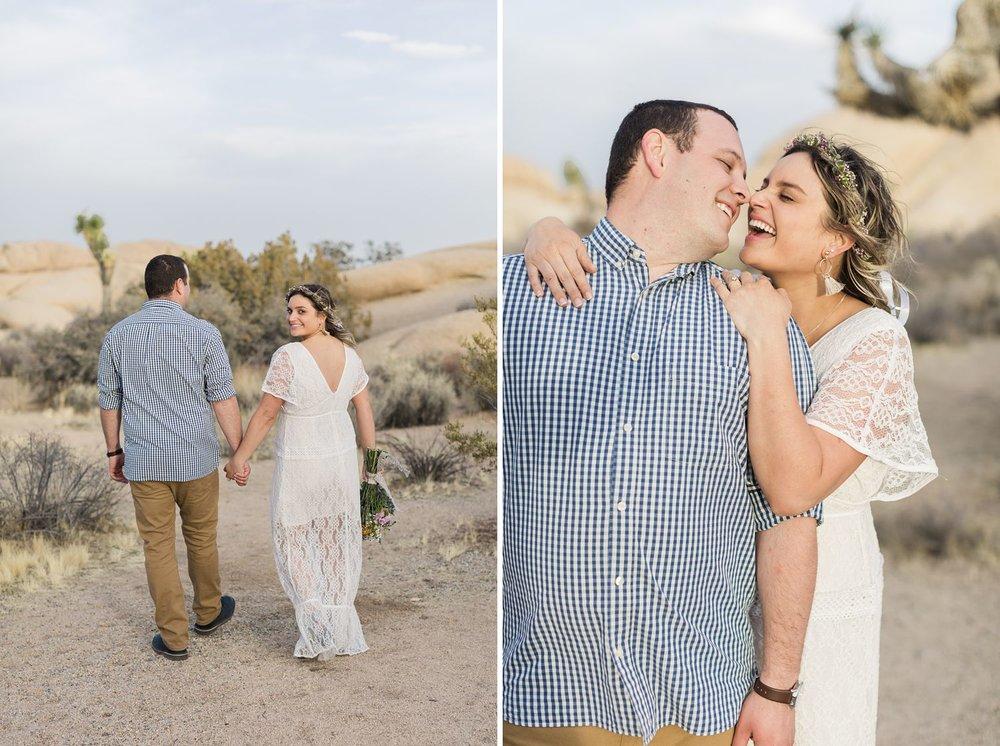 white lace engagement shoot dress