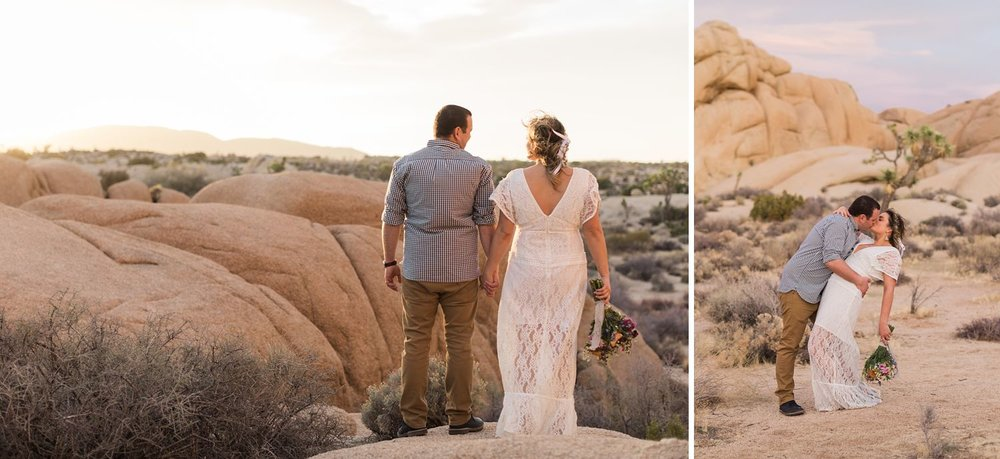 engagement photos in joshua tree