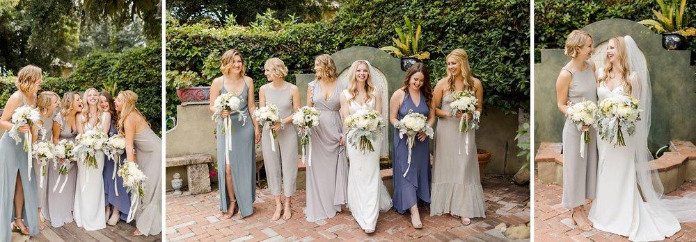 mismatched bridesmaid dresses santa barbara photo