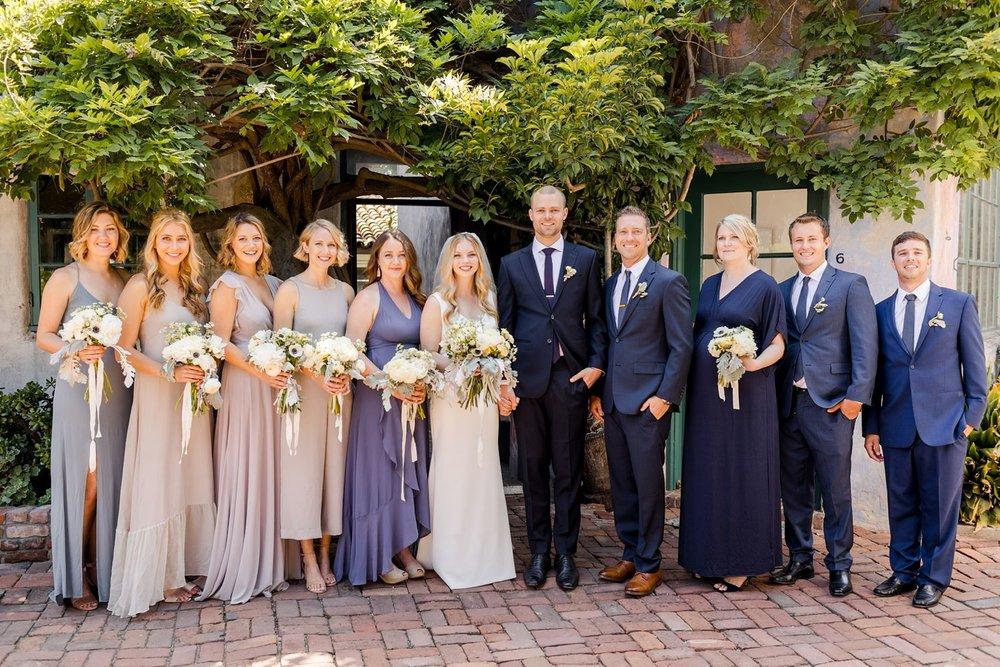 wedding party photos santa barbara