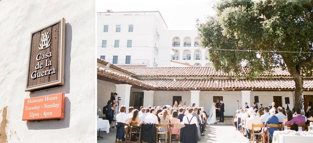 casa de la guerra wedding santa barbara