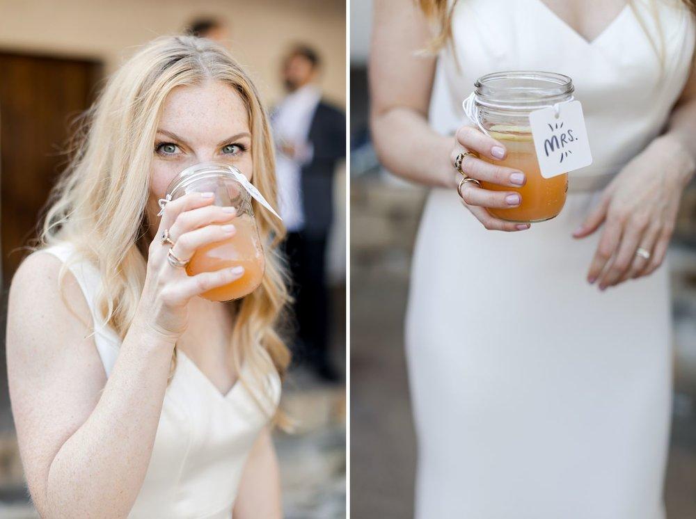 mason jar wedding cocktail