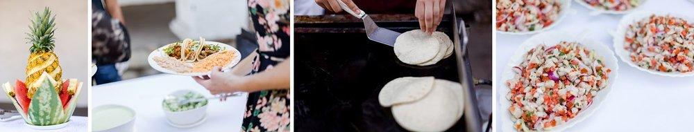 taco bar wedding