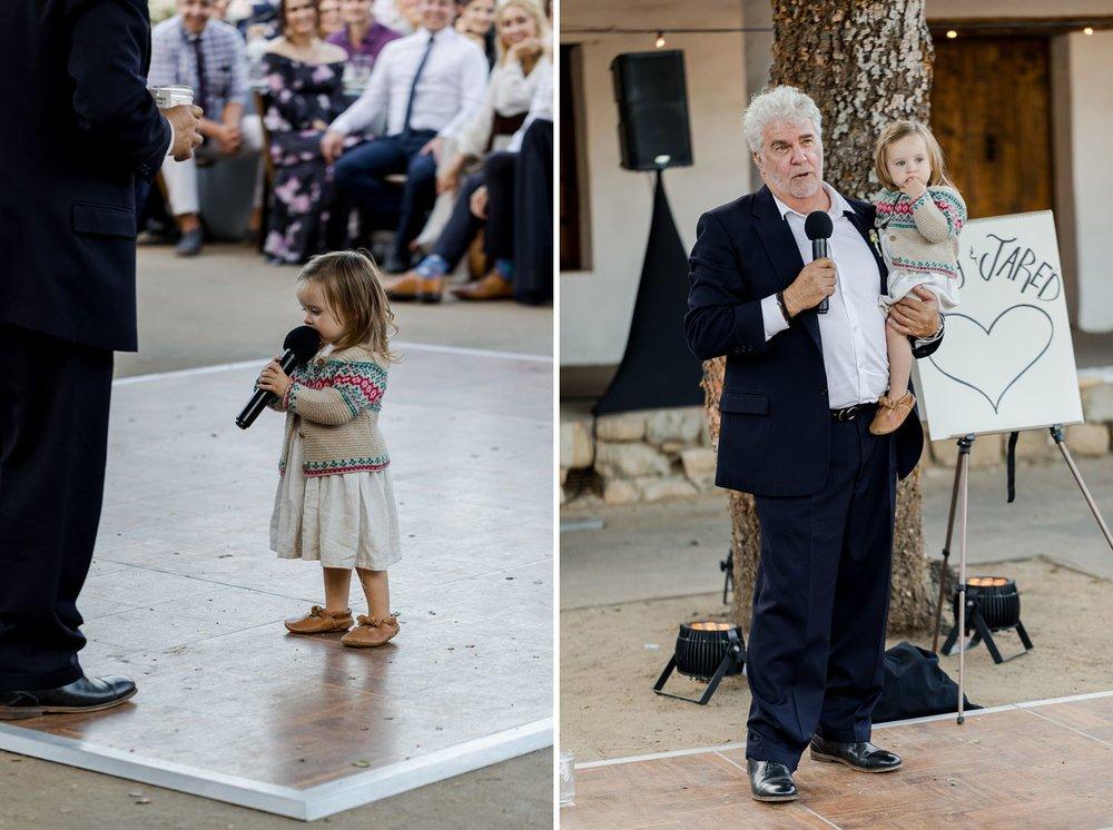 father toast santa barbara wedding