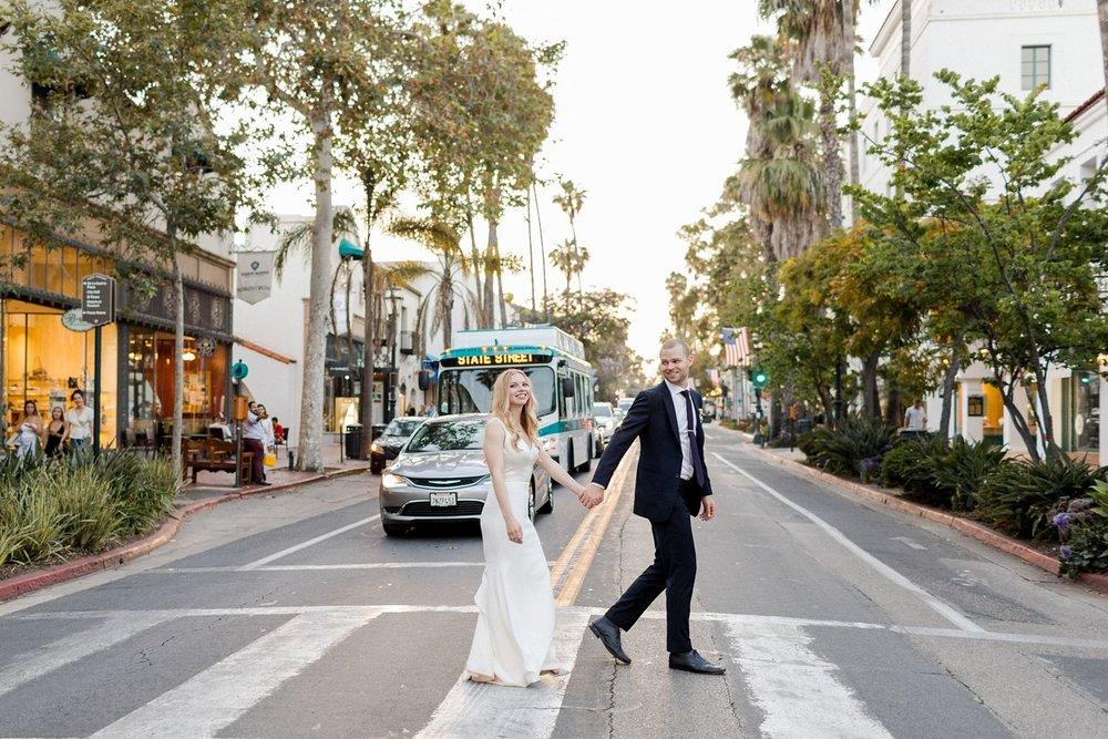 state street santa barbara wedding photos