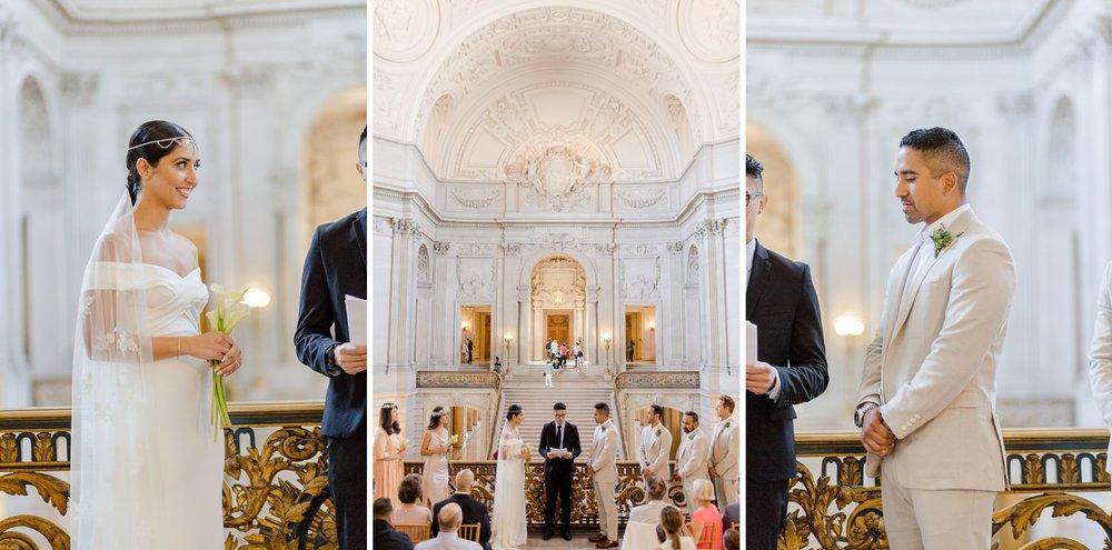 mayor's balcony wedding ceremony photos