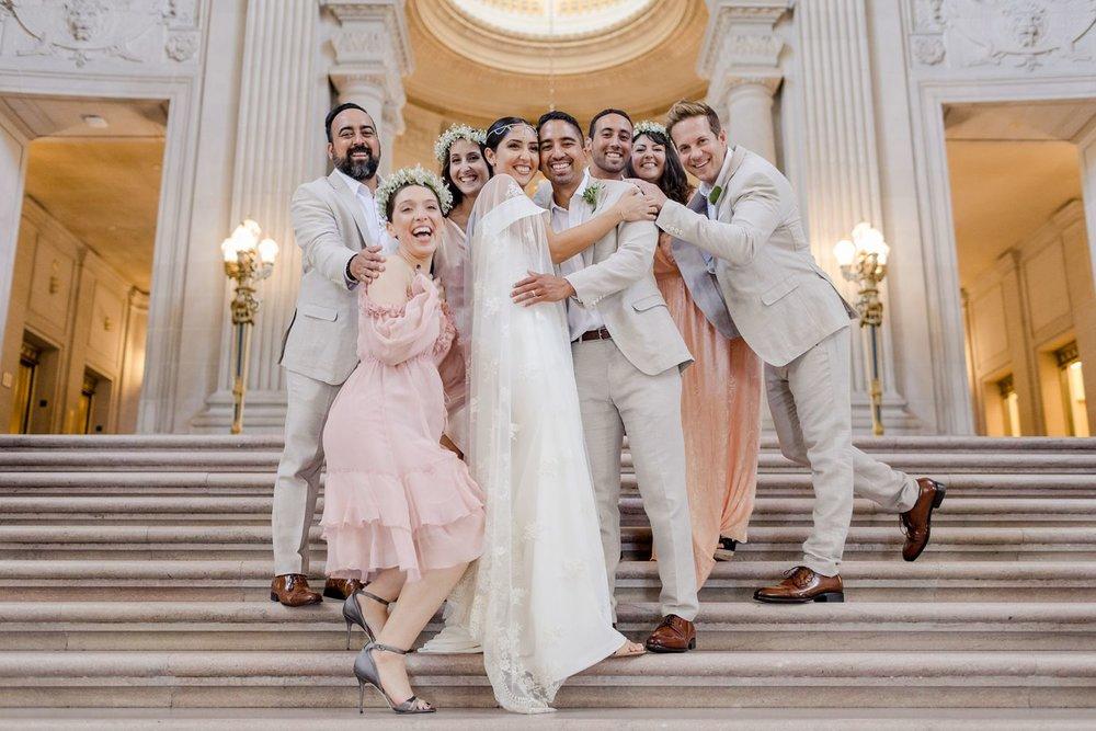 san francisco city hall wedding party