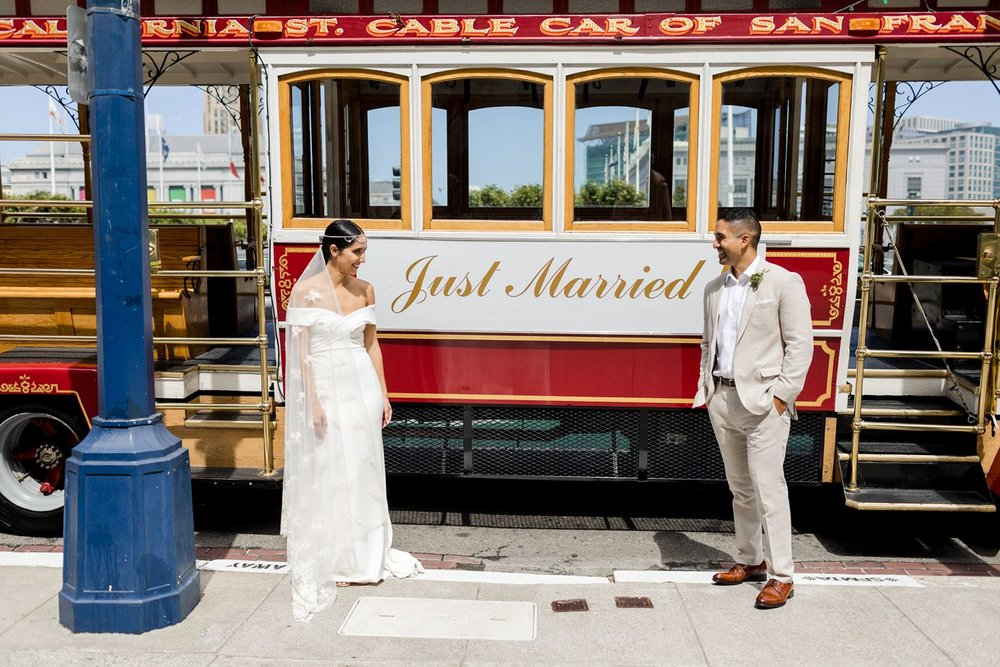 trolley wedding photography san francisco