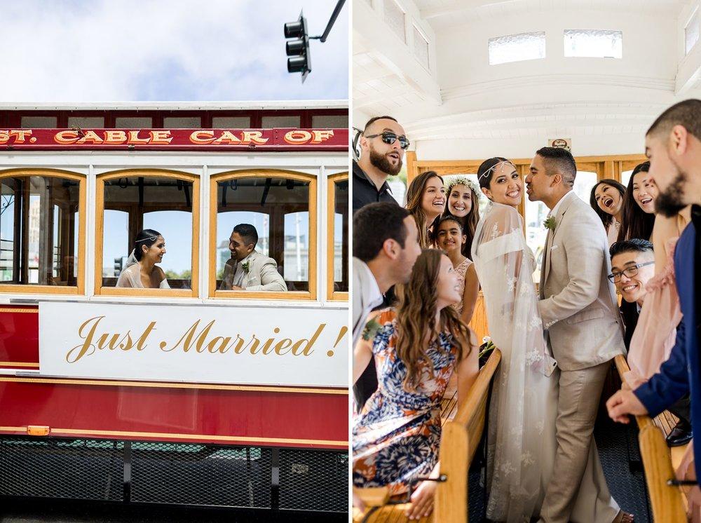 san francisco wedding trolley