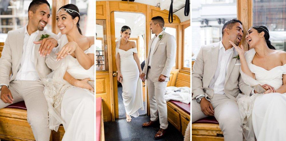 bride and groom at san francisco wedding